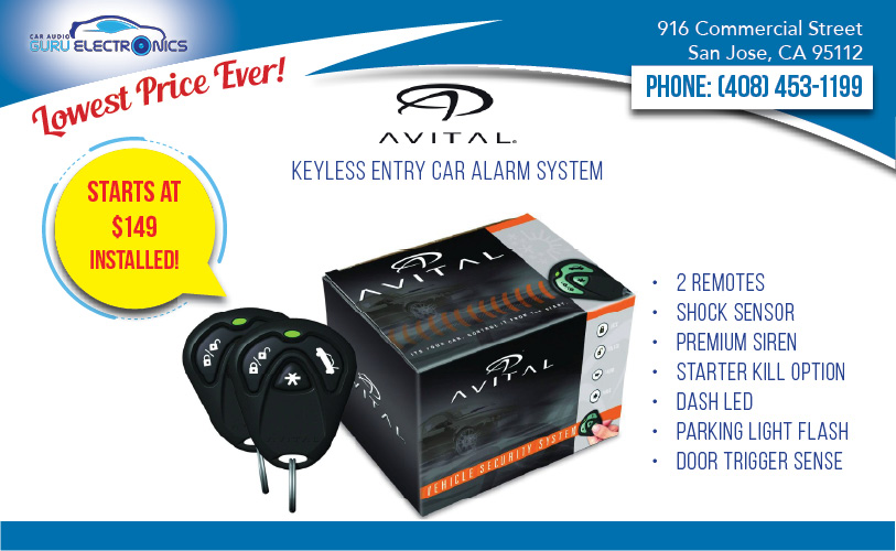 Avital 3100l 1-way Keyless Entry Car Alarm   Installation Starts At