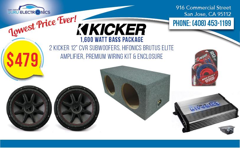 Kicker 1,200 Watt Bass Package