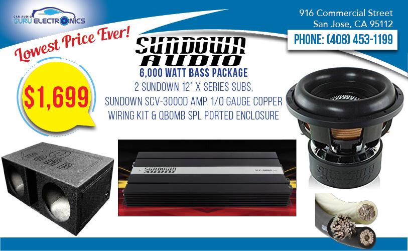 Go Or Home Sundown Audio 6 000 Watt Ultimate B Package Car Alarms And Stereo Installation San Jose Bay Area Ca
